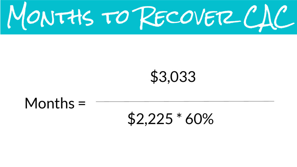 Months = $3,033 $2,225 * 60% Months to Recover ...