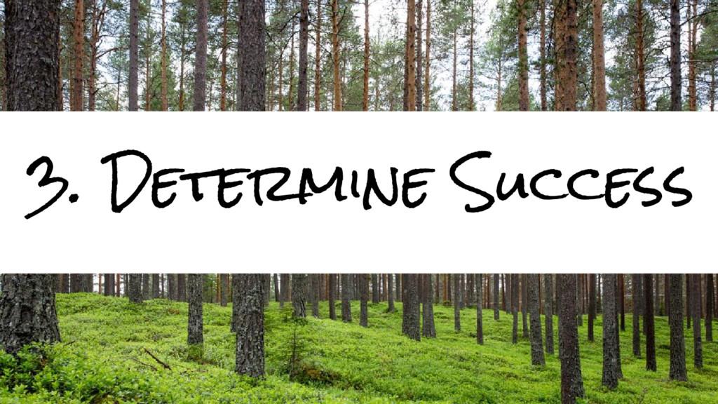 3. Determine Success