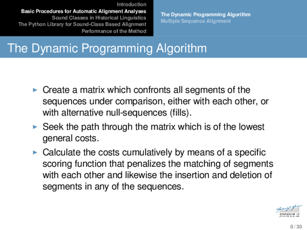 Introduction Basic Procedures for Automatic Ali...