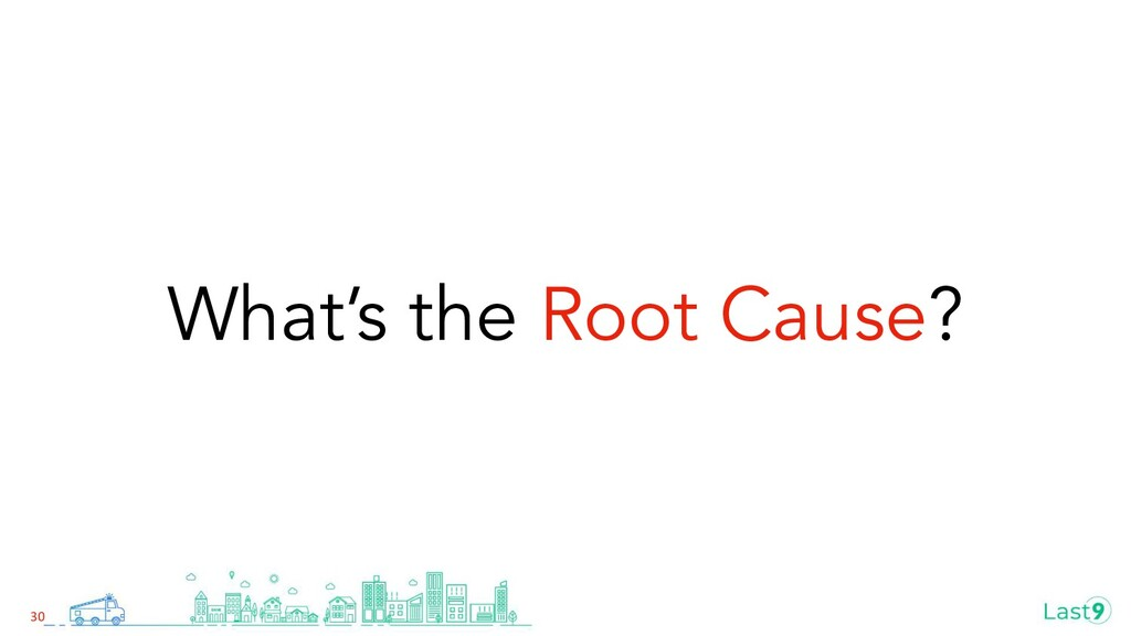 What's the Root Cause? 30