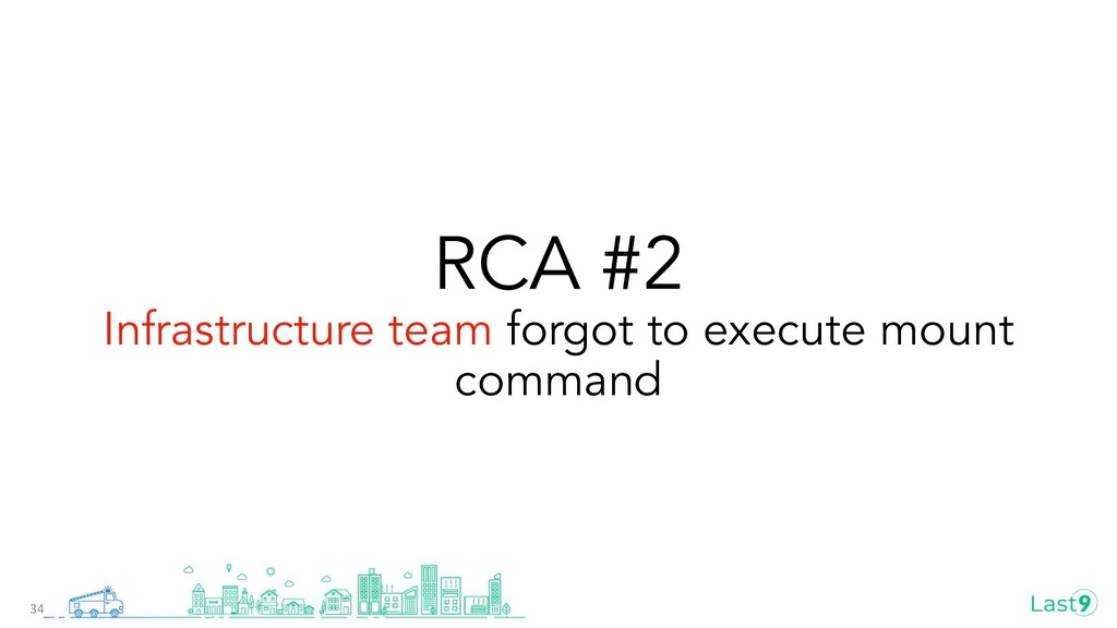 RCA #2 Infrastructure team forgot to execute mo...