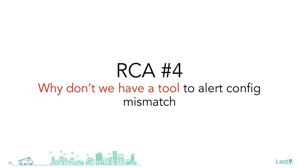 RCA #4 Why don't we have a tool to alert config ...