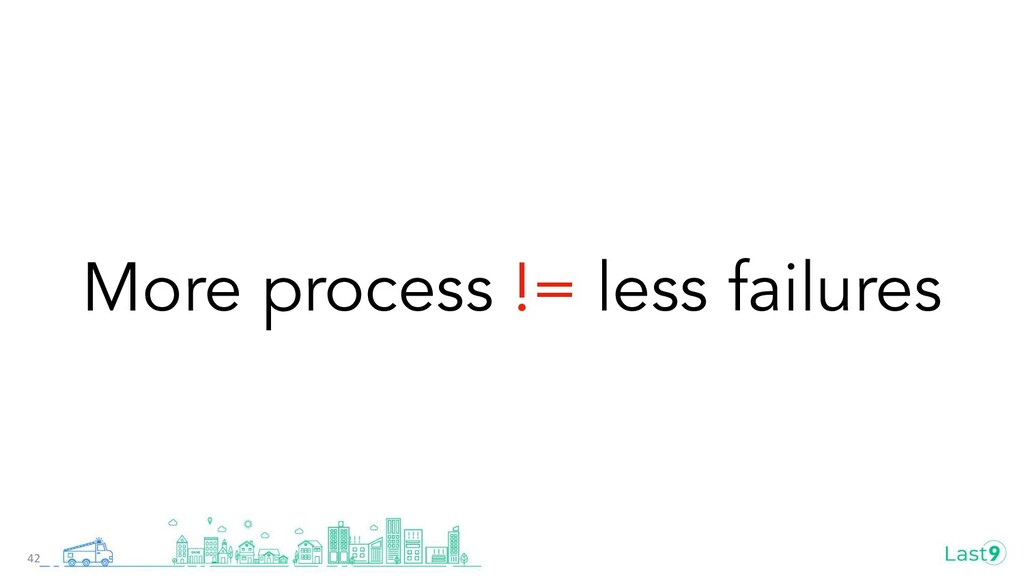 More process != less failures 42
