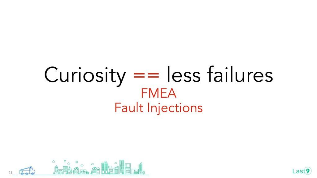 Curiosity == less failures FMEA Fault Injection...