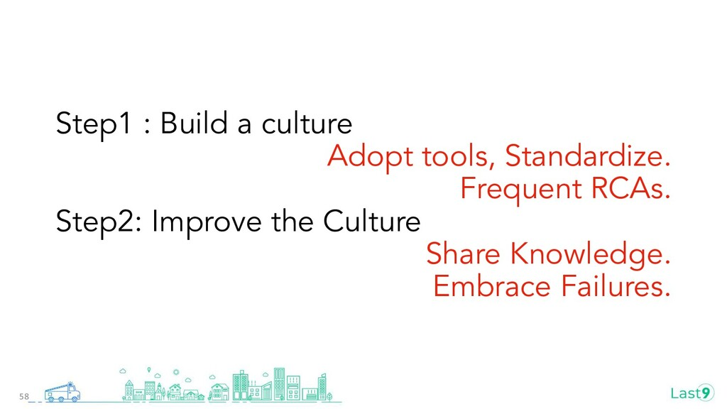Step1 : Build a culture Adopt tools, Standardiz...
