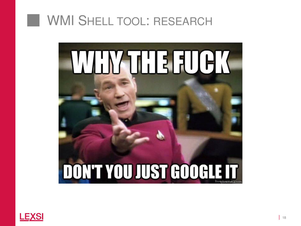 18 WMI SHELL TOOL: RESEARCH