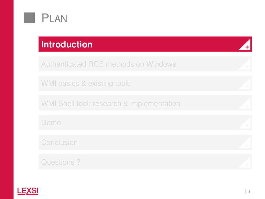 3 PLAN Introduction Authenticated RCE methods o...