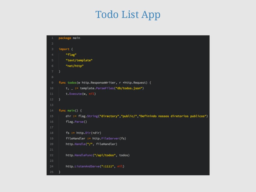 Todo List App