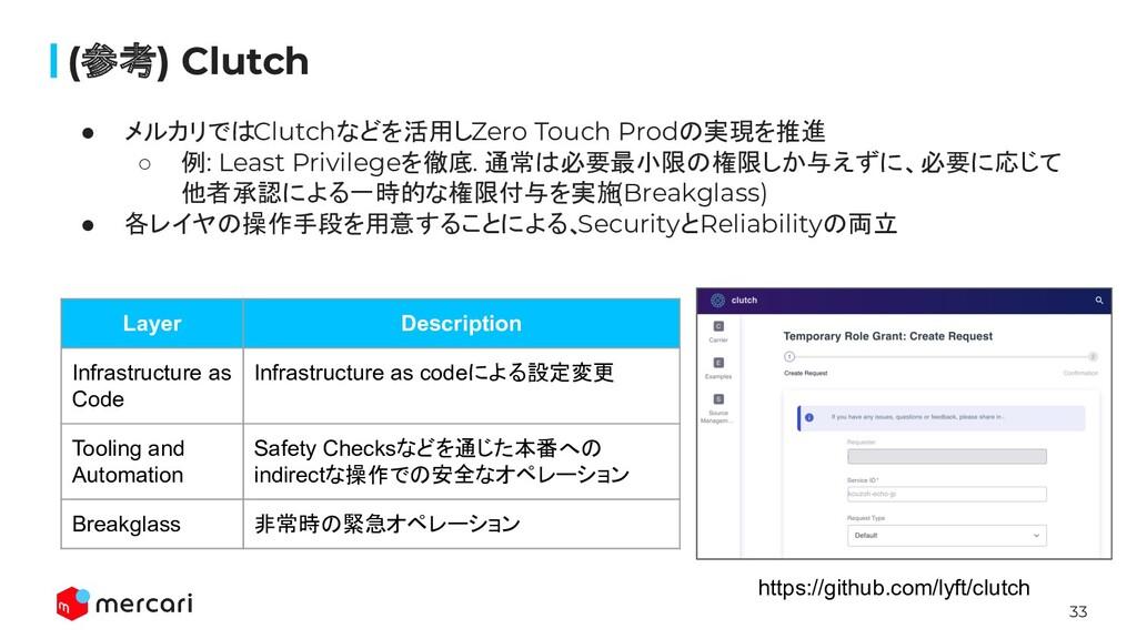 33 (参考) Clutch ● メルカリではClutchなどを活用しZero Touch P...