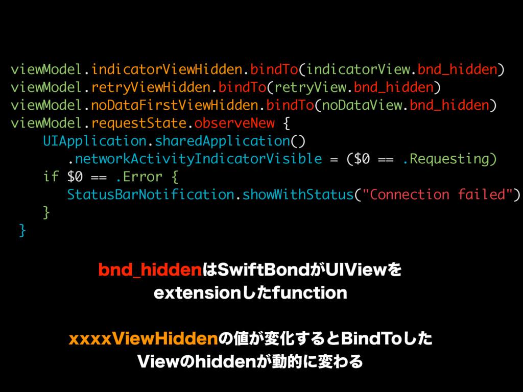 viewModel.indicatorViewHidden.bindTo(indicatorV...