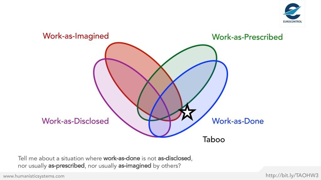 Taboo http://bit.ly/TAOHW3 www.humanisticsystem...