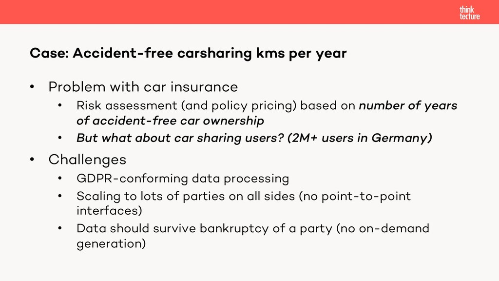 • Problem with car insurance • Risk assessment ...