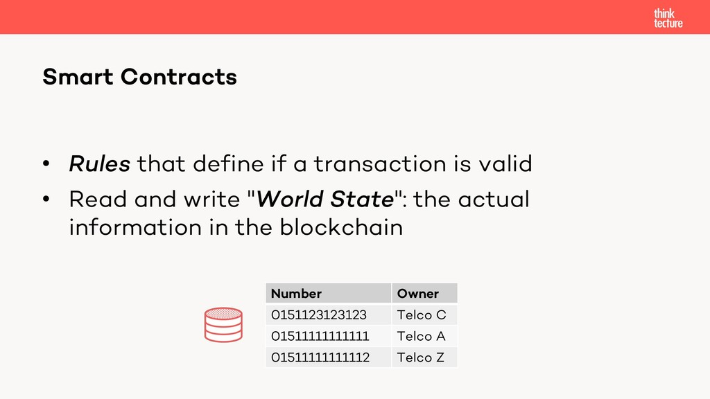 • Rules that define if a transaction is valid •...