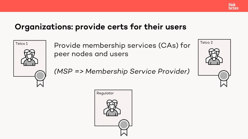 Organizations: provide certs for their users Te...