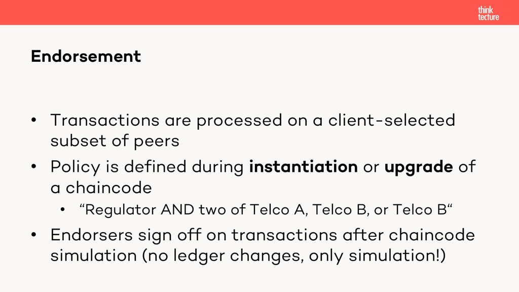 • Transactions are processed on a client-select...