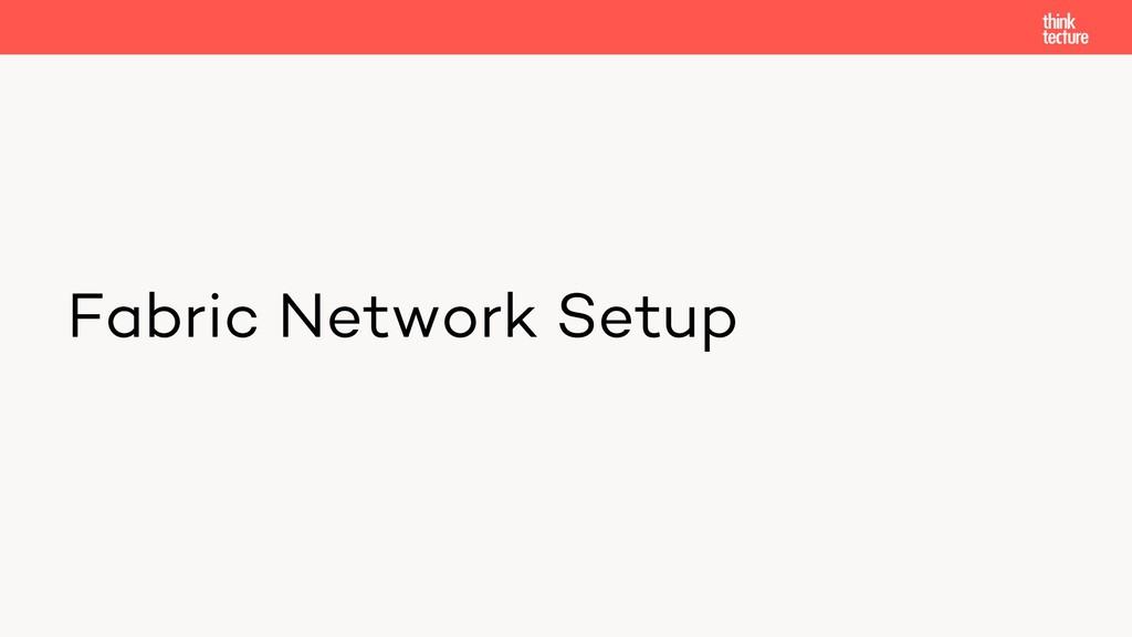 Fabric Network Setup