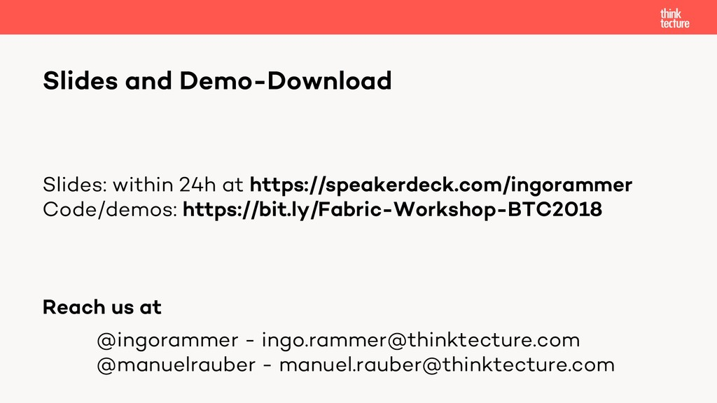 Slides and Demo-Download Slides: within 24h at ...
