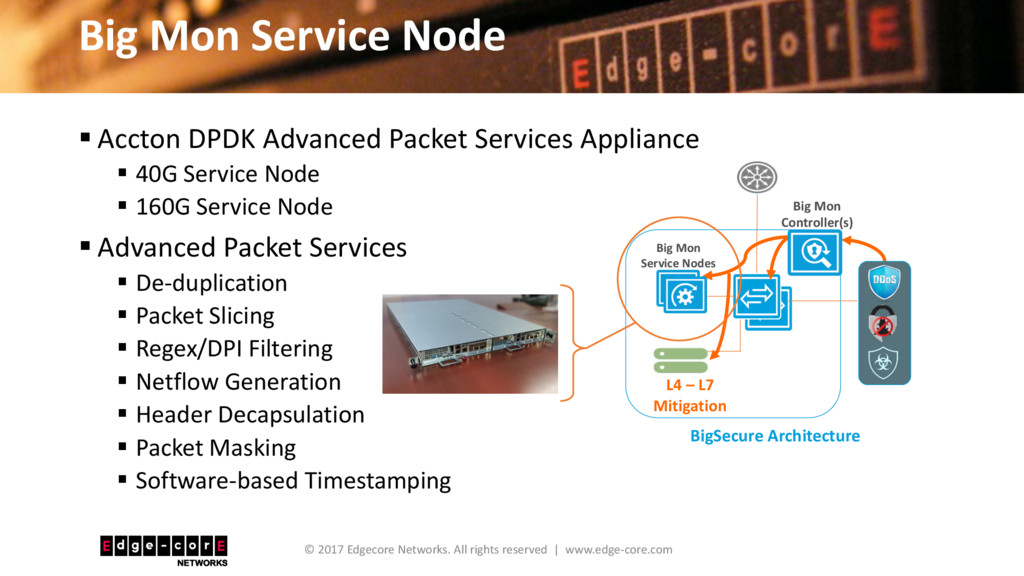 Big Mon Service Node © 2017 Edgecore Networks. ...