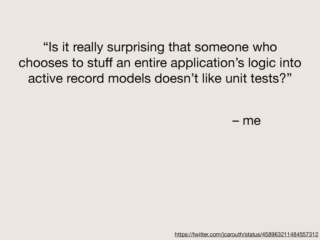 """""""Is it really surprising that someone who choos..."""