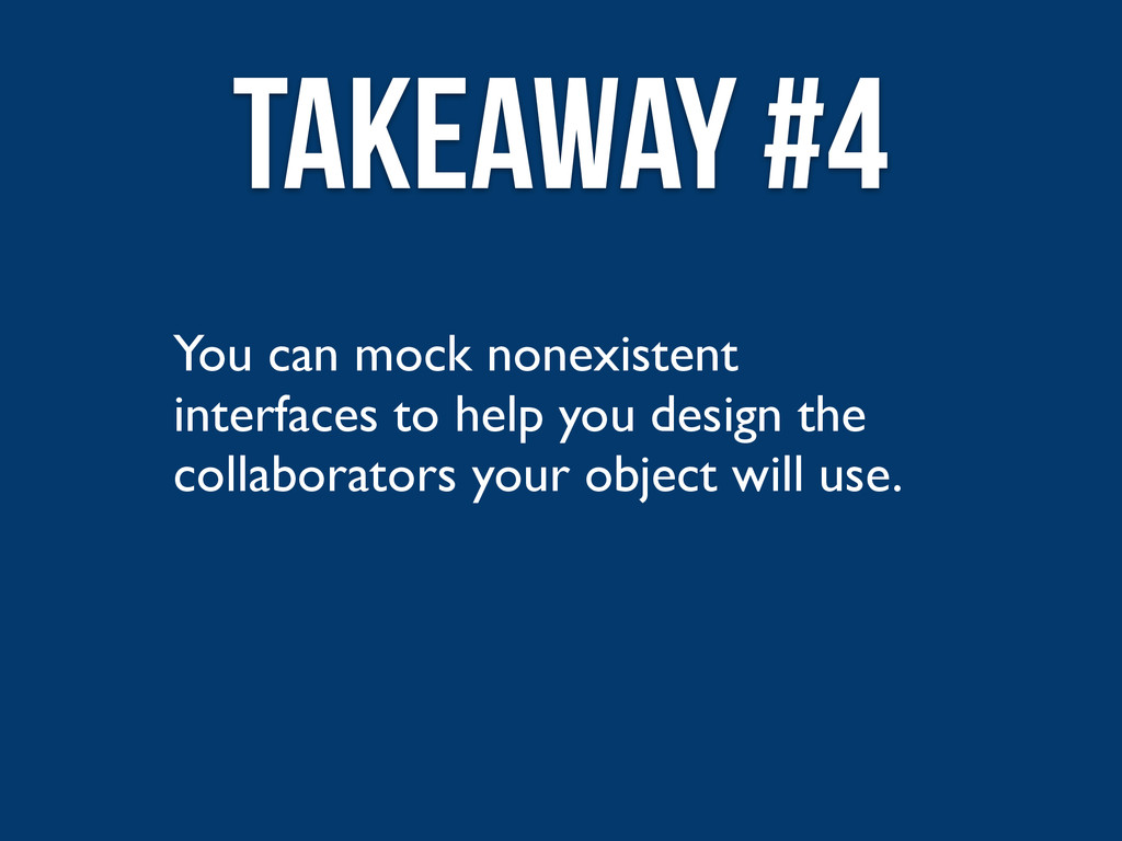 You can mock nonexistent interfaces to help you...