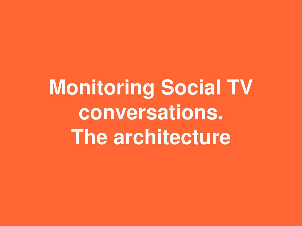 Monitoring Social TV conversations. The archite...