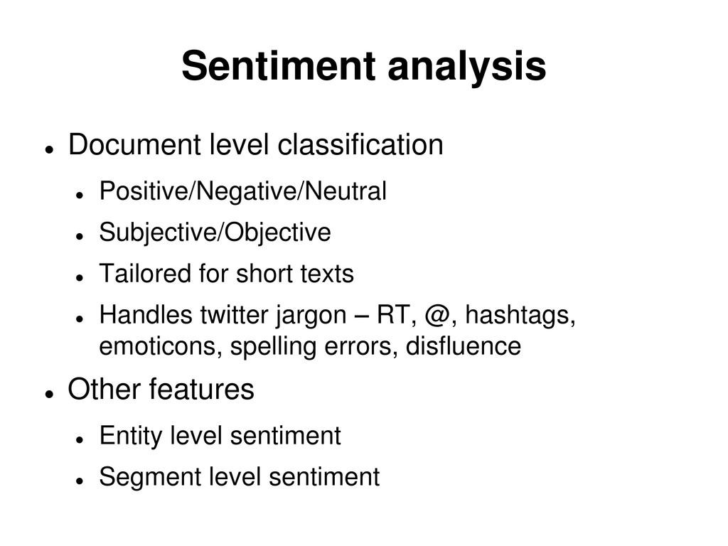 Sentiment analysis  Document level classificat...