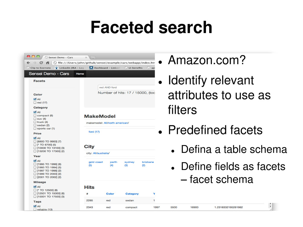 Faceted search  Amazon.com?  Identify relevan...