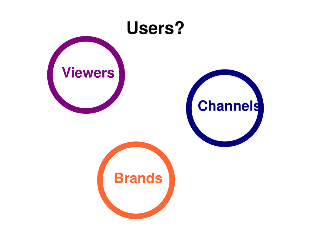 Users? Viewers Channels Brands