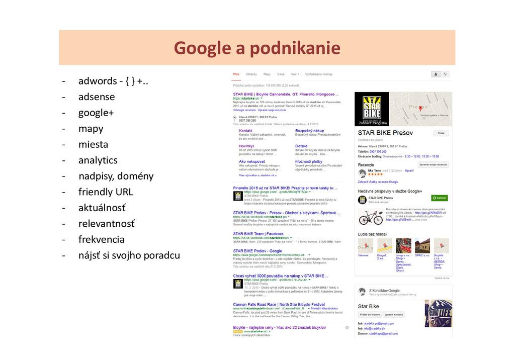 Google a podnikanie - adwords - { } +.. - adsen...