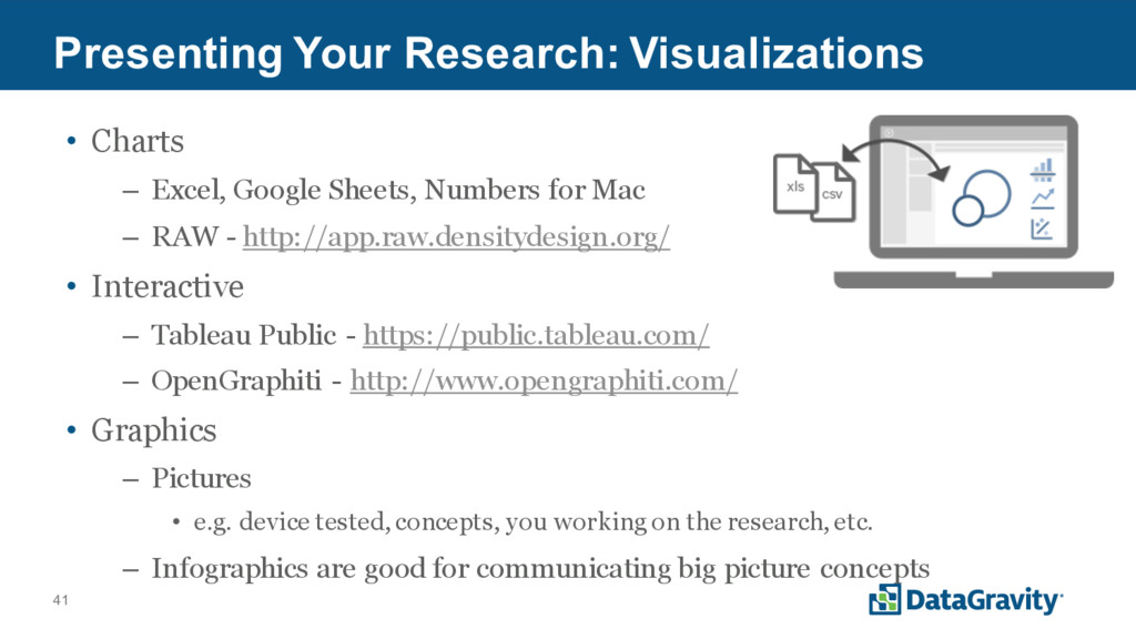 41 Presenting Your Research: Visualizations • C...