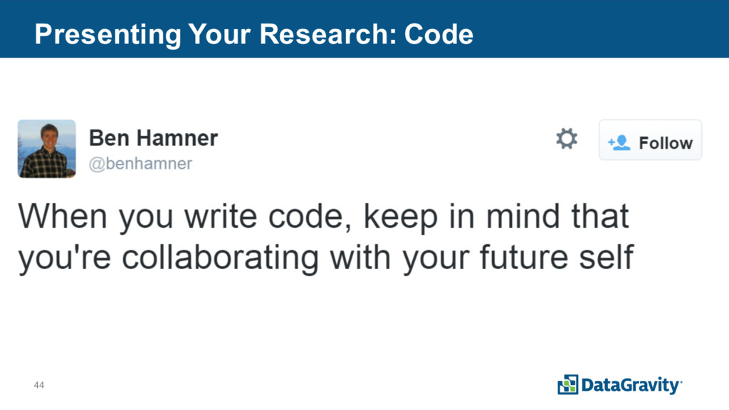 44 Presenting Your Research: Code