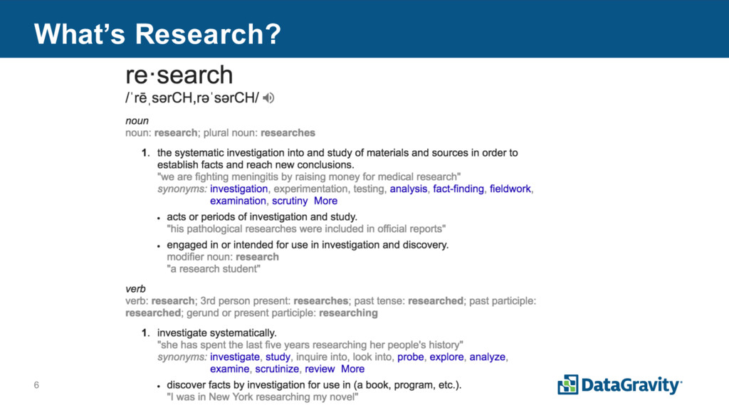 6 What's Research?
