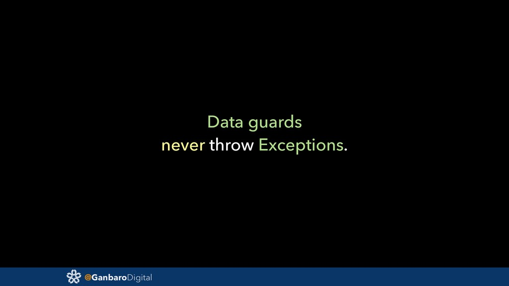 @GanbaroDigital Data guards never throw Excepti...