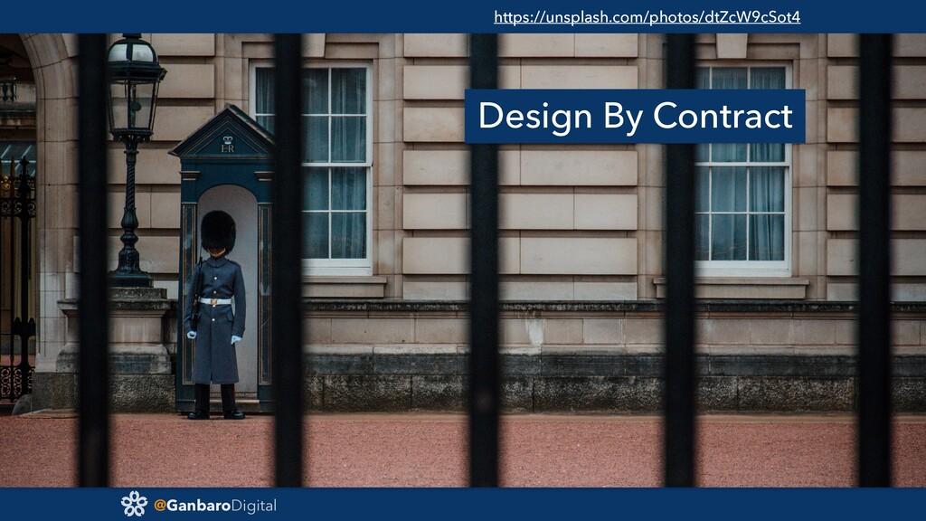 @GanbaroDigital Design By Contract https://unsp...
