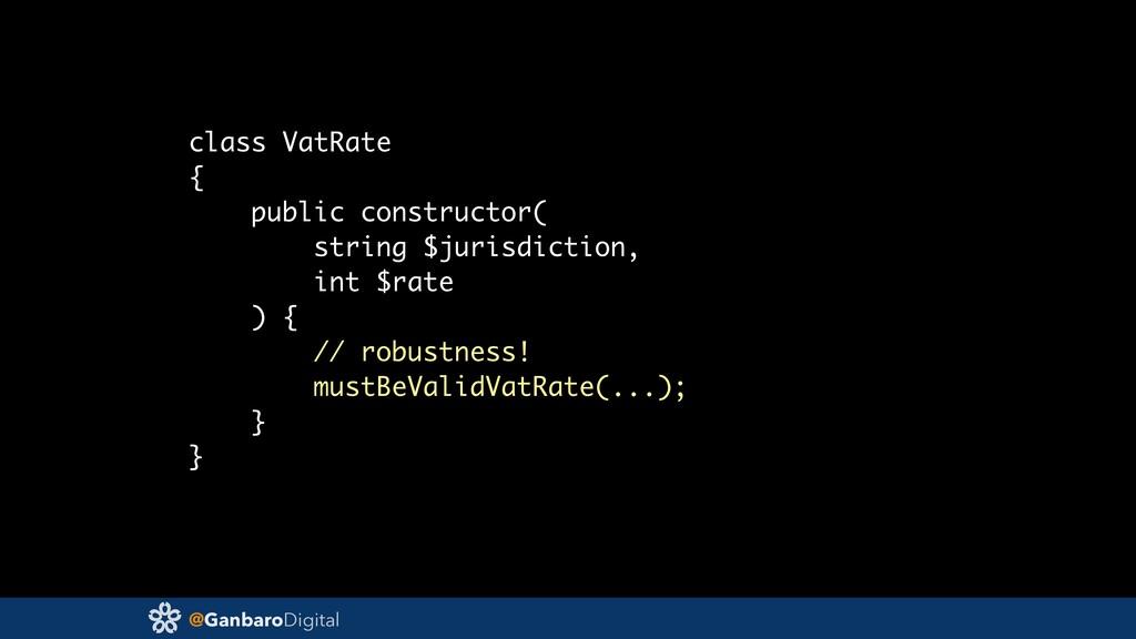 @GanbaroDigital class VatRate { public construc...