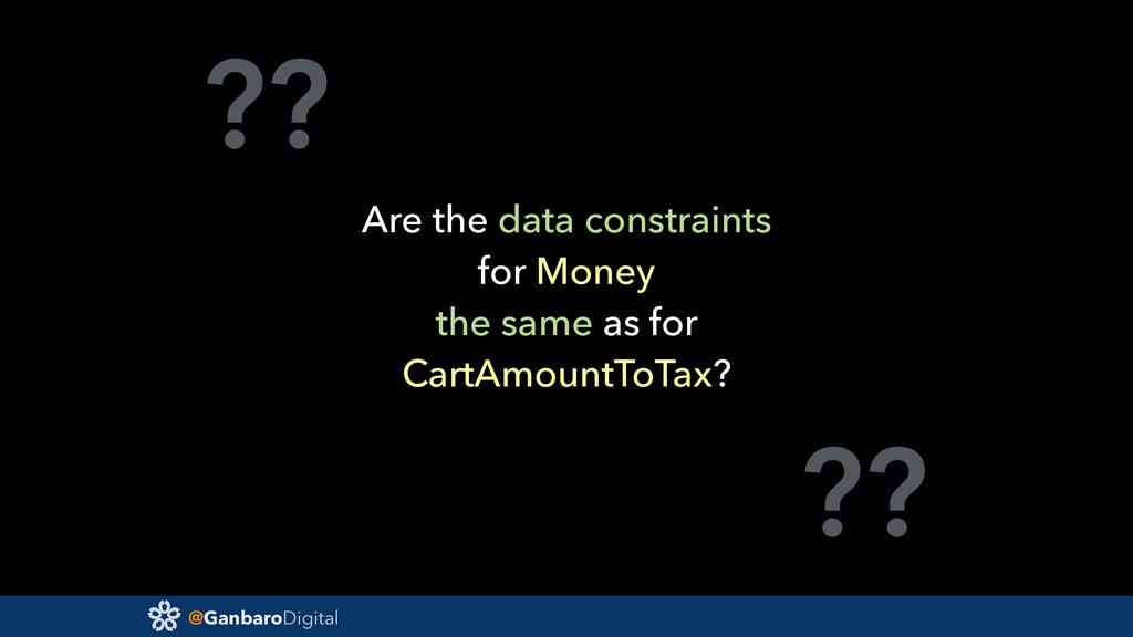 @GanbaroDigital ?? ?? Are the data constraints ...