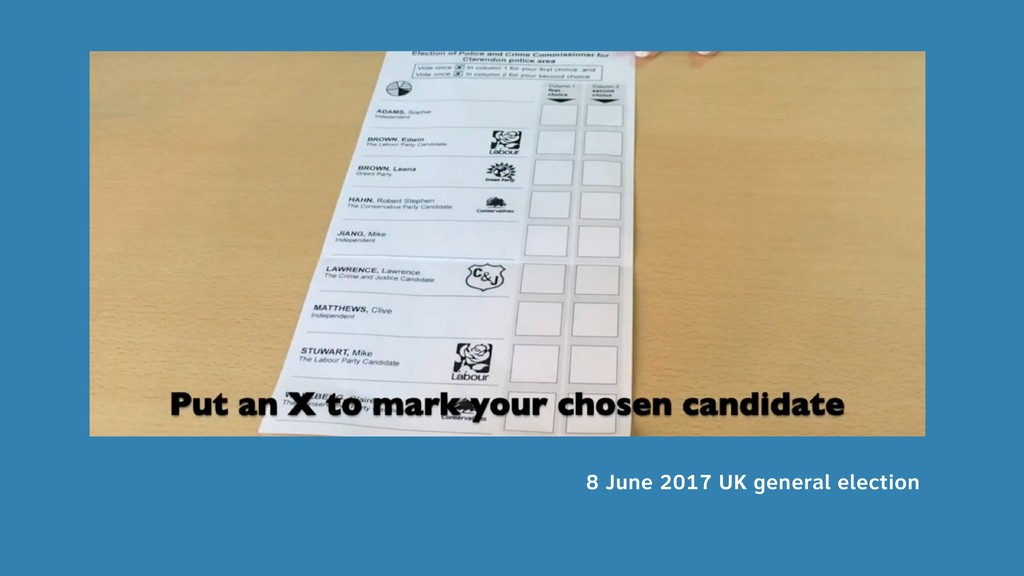 8 June 2017 UK general election