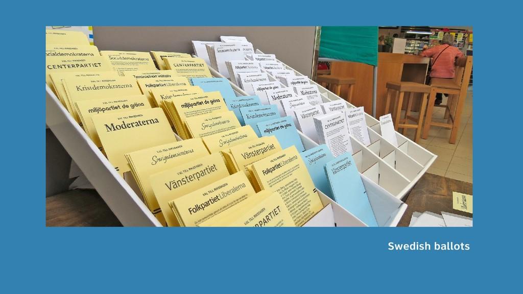 13 Swedish ballots