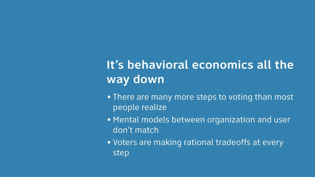 It's behavioral economics all the way down • Th...
