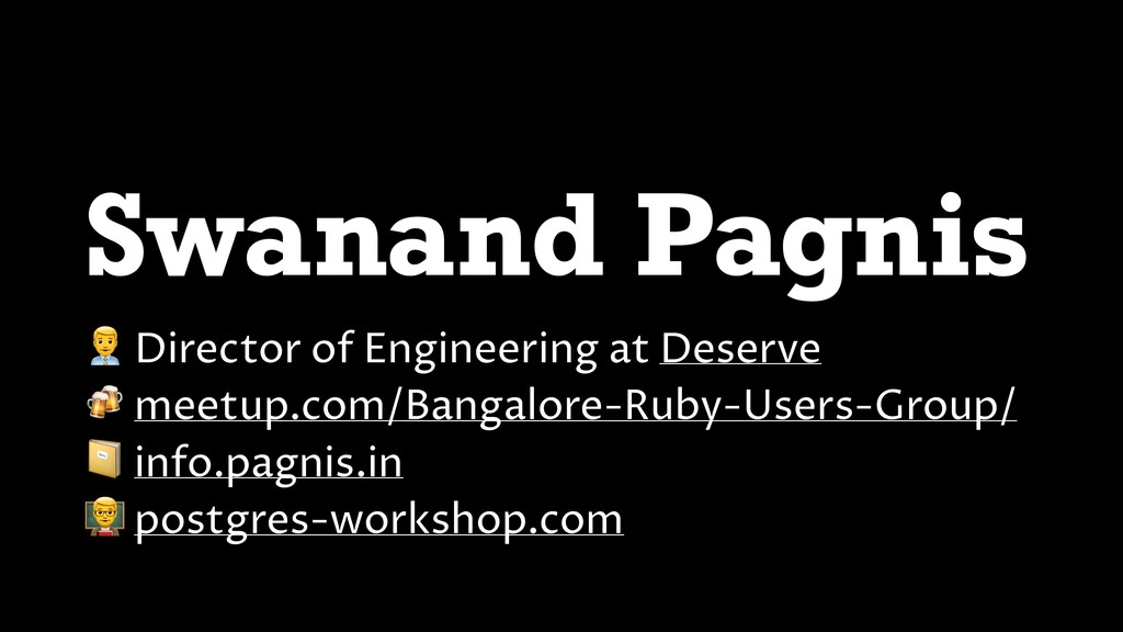 """Swanand Pagnis """" Director of Engineering at Des..."""