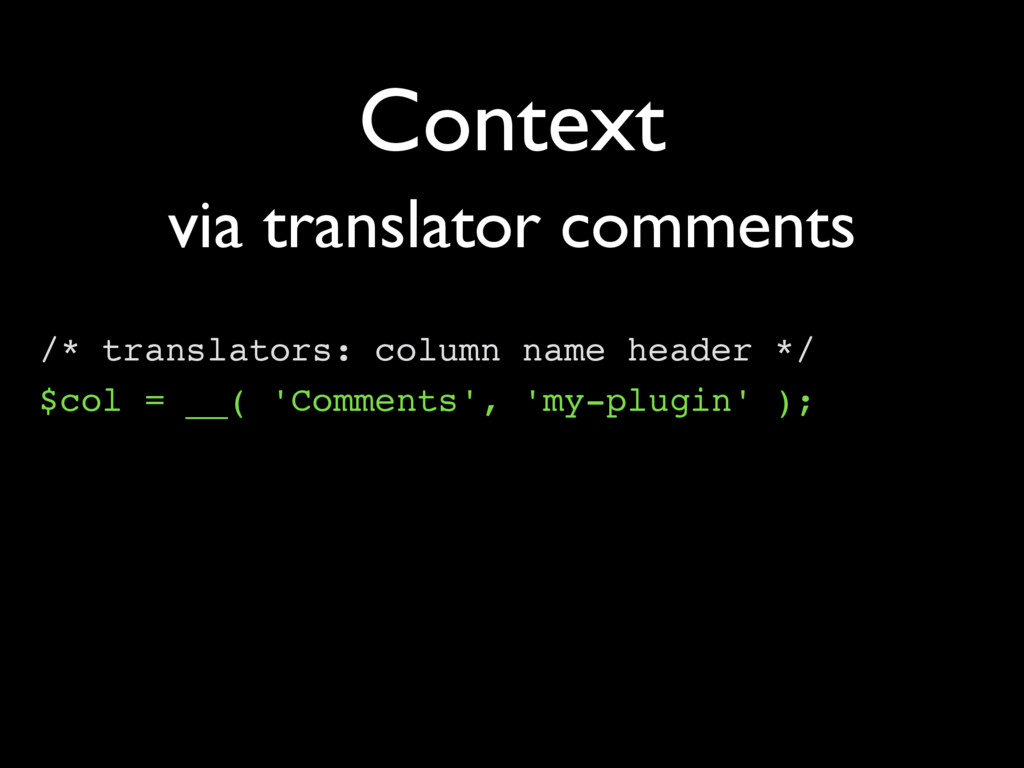 Context /* translators: column name header */ $...