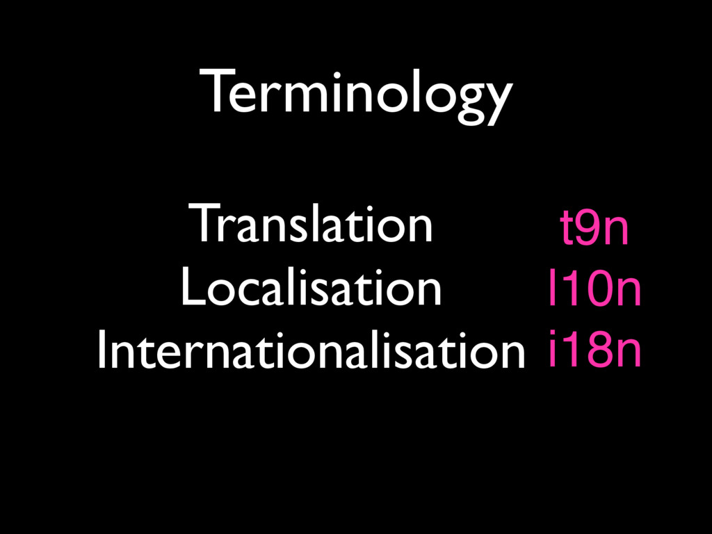 Terminology Translation Localisation Internatio...