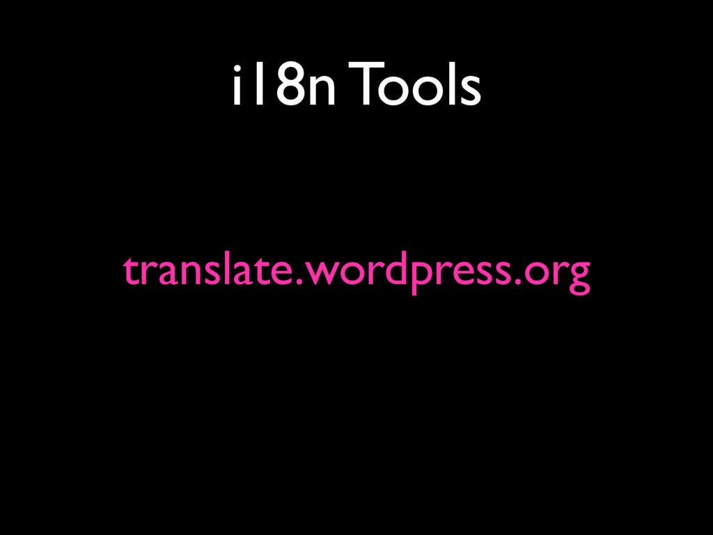 i18n Tools translate.wordpress.org