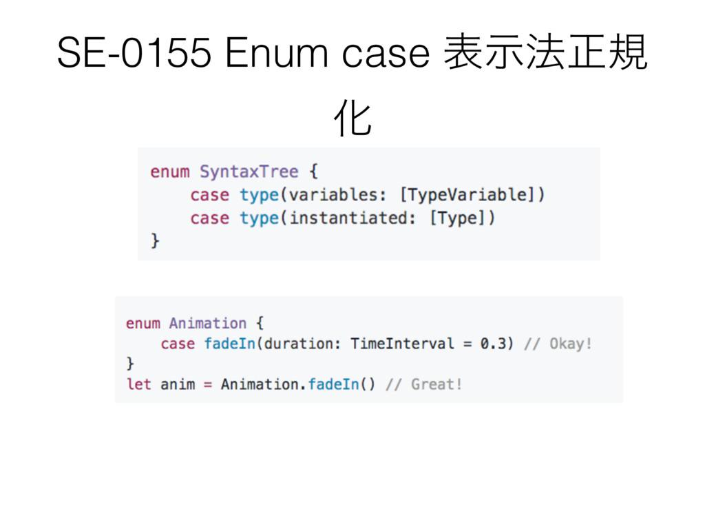 SE-0155 Enum case දࣔ๏ਖ਼ن Խ