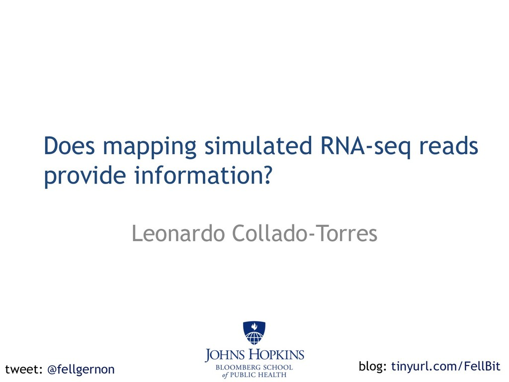 Does mapping simulated RNA-seq reads provide in...
