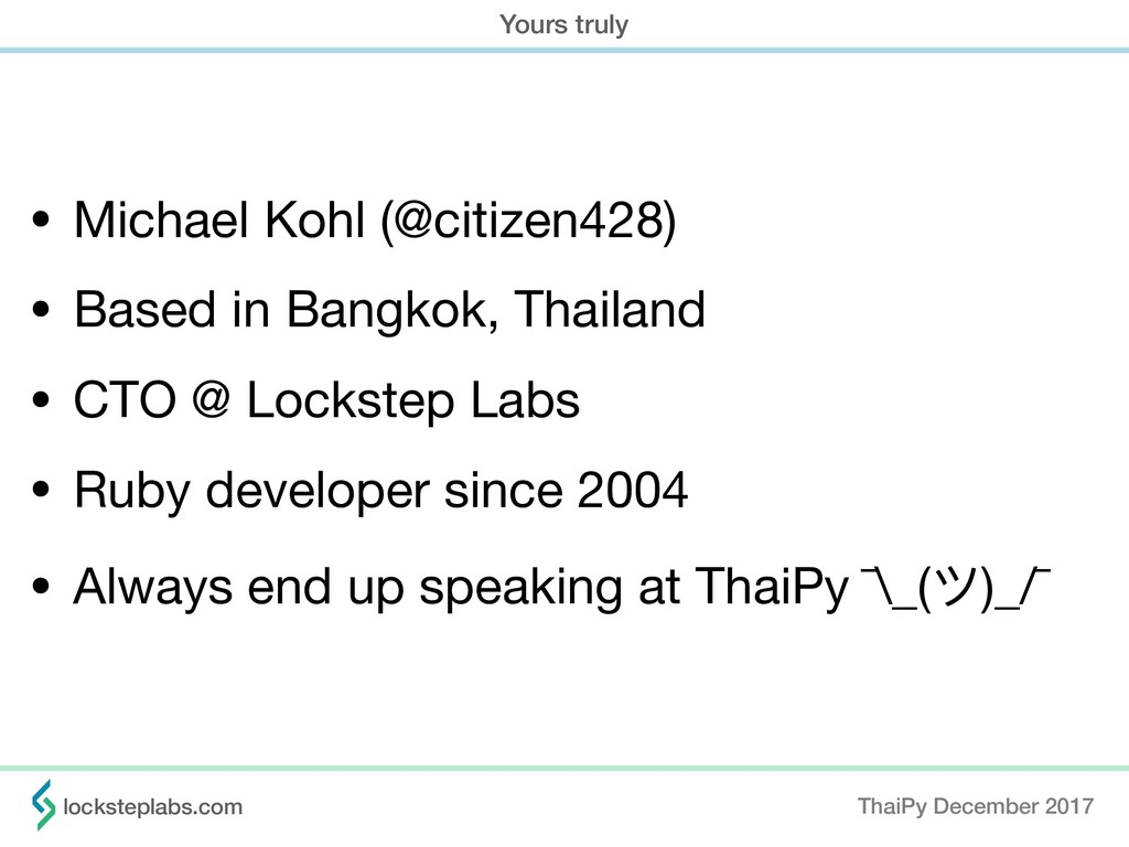 • Michael Kohl (@citizen428)  • Based in Bangko...