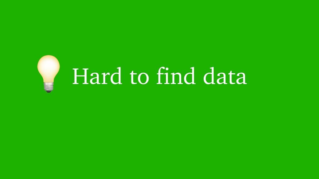 Hard to find data