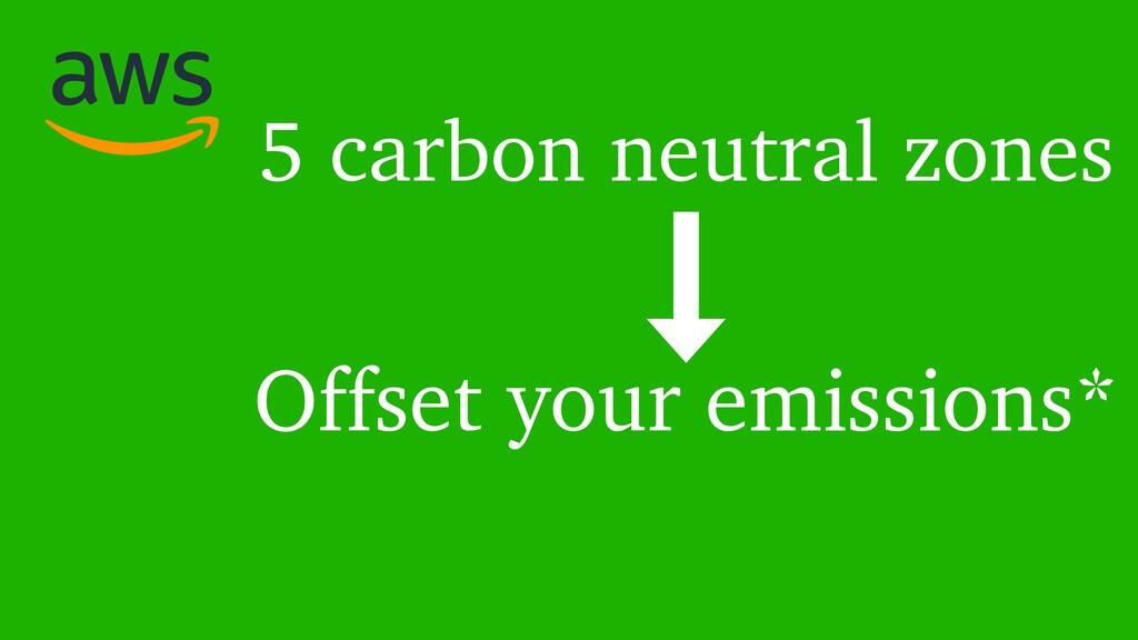 5 carbon neutral zones Offset your emissions*