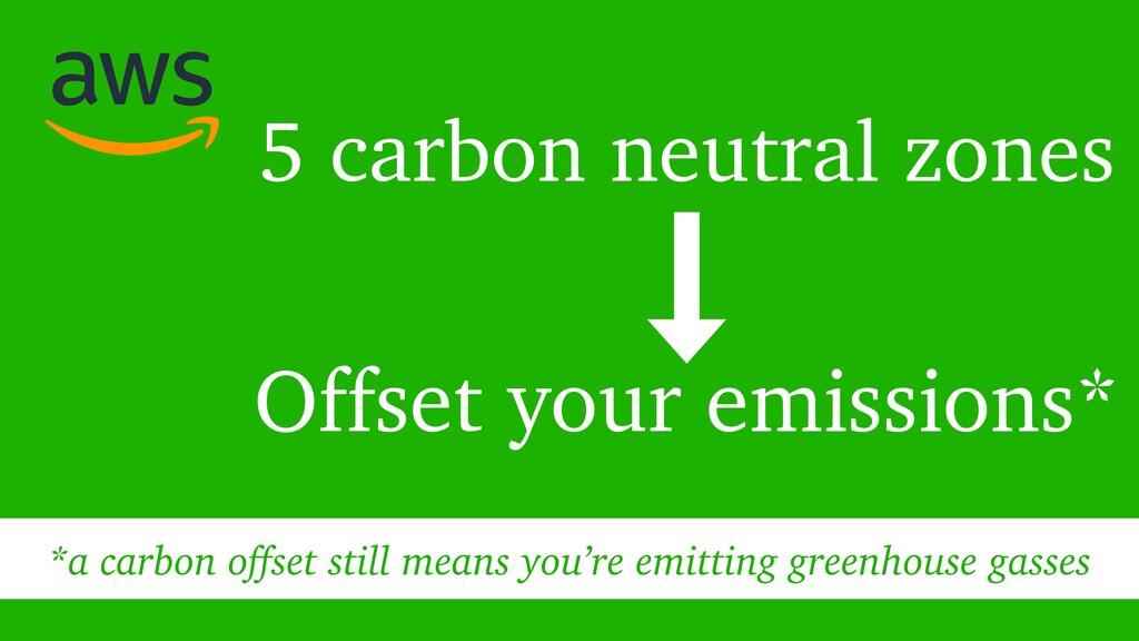 5 carbon neutral zones Offset your emissions* *...