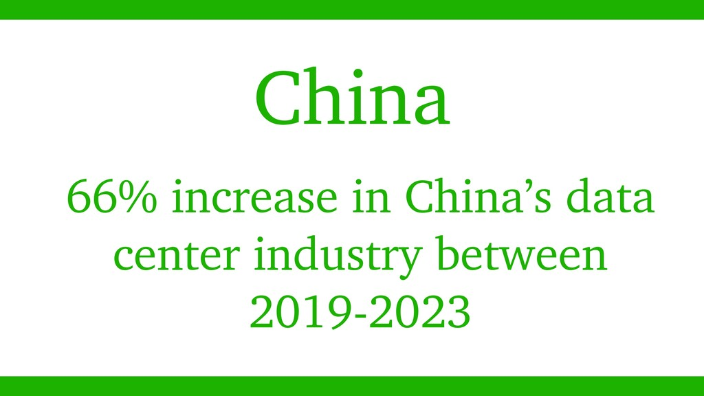 China 66% increase in China's data center indus...